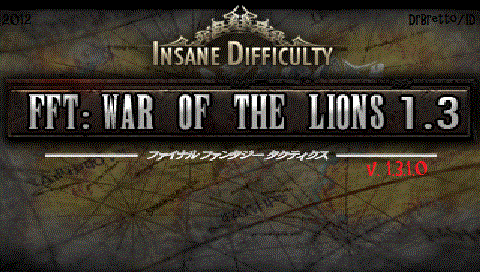 final fantasy tactics war of the lions 1.3 patched iso